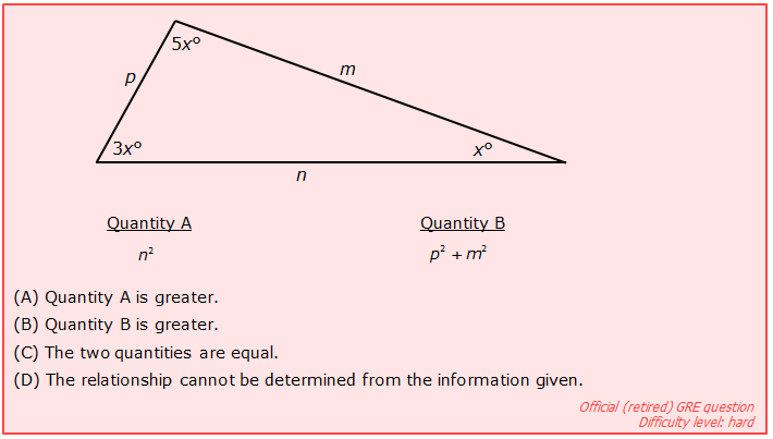 Hard GRE question on right triangles