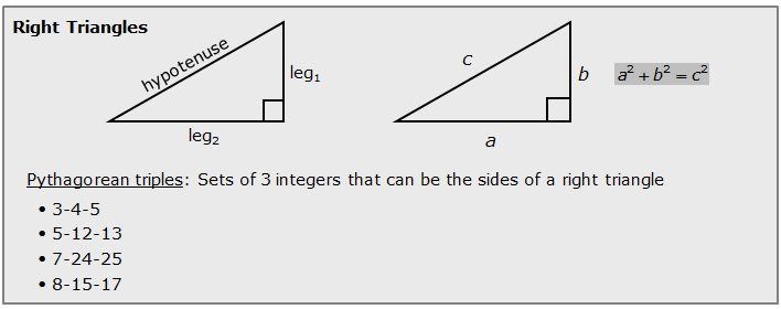 Right-triangle-properties